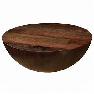 Rustic ryan round coffee table 48quot zin home for Round wood coffee tables
