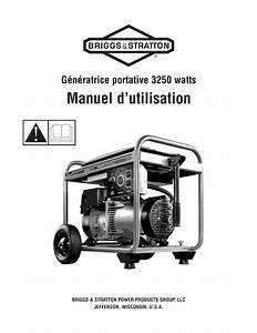 Briggs  U0026 Stratton 030372 User Manual Generator Manuals And