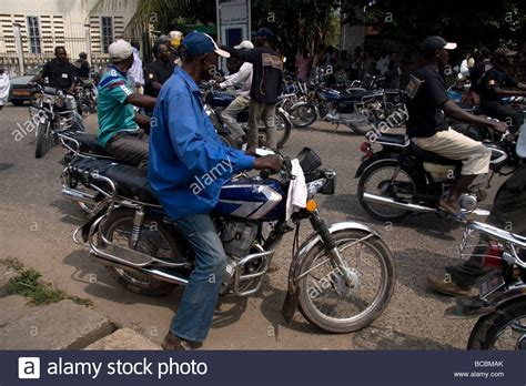 Motorcycle Taxi Drivers Douala Cameroon West Africa Known