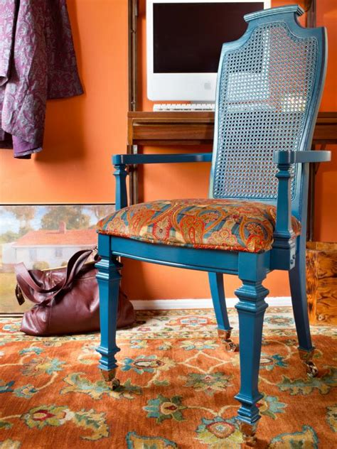 turn a formal dining chair into a designer desk chair hgtv
