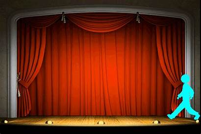 Theatre Curtains Animation Giphy Opening Gifs Curtain
