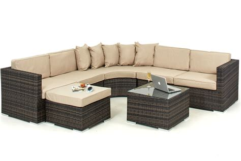 Rattan Sofa Sets Uk by Lisbon 6 7 Seater Rattan Corner Sofa Set Sofa Sets