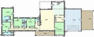 plan de maison contemporaine en u np18 jornalagora With plan maison moderne contemporaine