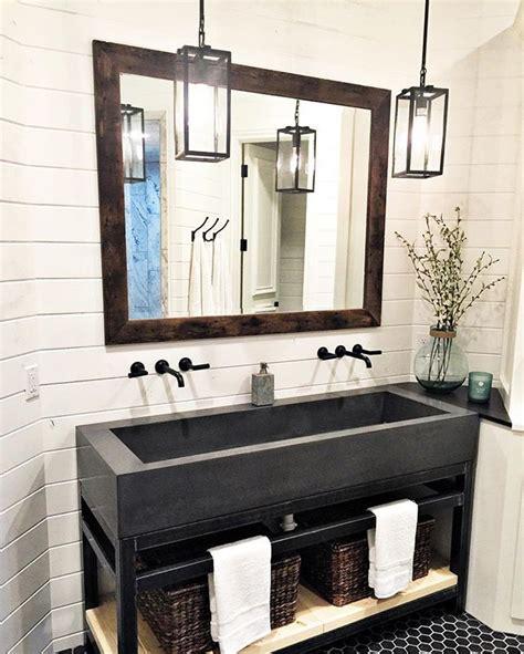 ideas  farmhouse bathroom sink  pinterest