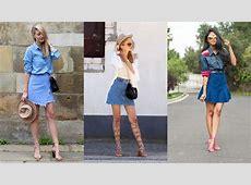 15 Ways to Wear a Denim Skirt YouTube