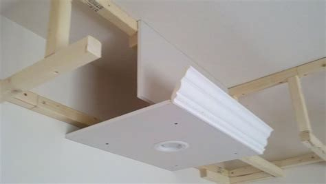sofit construction good idea home theater dropped