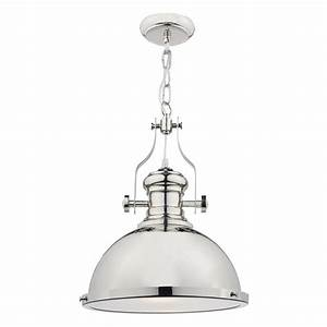 Dar lighting arona light polished chrome pendant