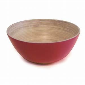 Bol En Bambou : bol bambou laque 16 cm rouge ~ Teatrodelosmanantiales.com Idées de Décoration