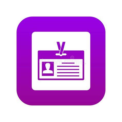 blank identification card  clasp mockup stock vector