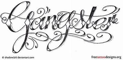 Gangster Tattoo Tattoos Gangsta Gang Designs Letter