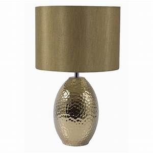 Searchlight 4547go table lamp ceramic hammered gold for Hammered gold floor lamp