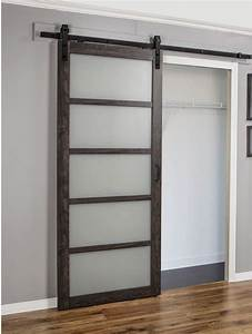 continental frosted glass 1 panel ironage laminate With barn door with glass window