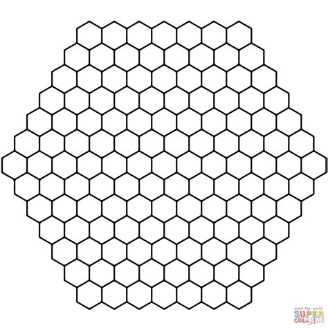 Coloriage Tessellation Avec Alvoles Coloriages