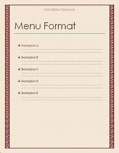 Free menu template free microsoft word templates free for Html menu templates free download