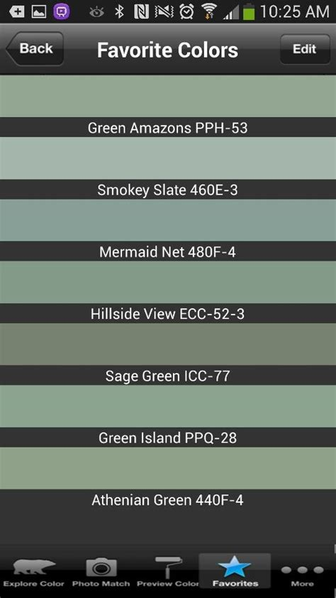 shades  green  behr paint palette painting