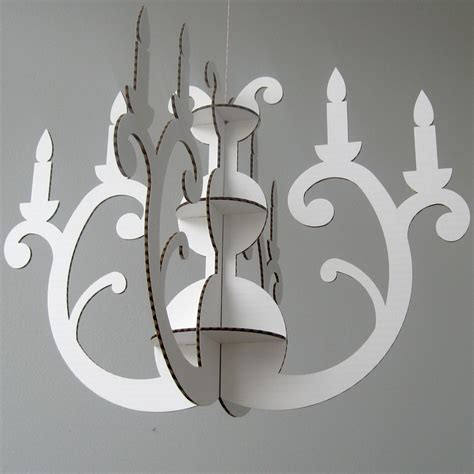 How To Make A Chandelier Out Of Paper by White Eco Chandelier Cardboard Chandelier Eco Friendly