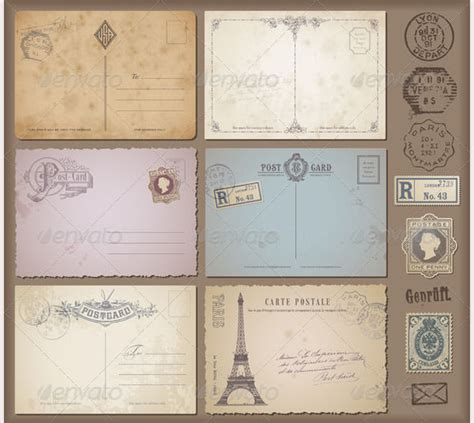 vintage postcard design templates