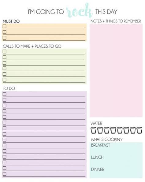 amazingly  printable daily planners