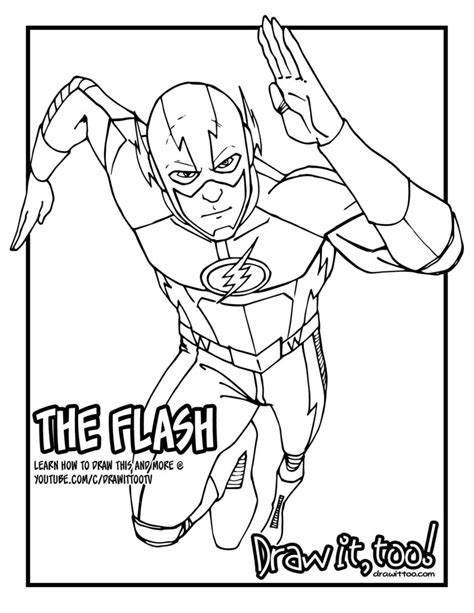 The Flash (the Cw Tv Series) Tutorial, Version Two  Draw It, Too