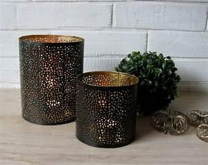 Stehlampe Schwarz Innen Gold : windlicht teelichthalter metall mit lochmuster schwarz innen gold ebay ~ Bigdaddyawards.com Haus und Dekorationen