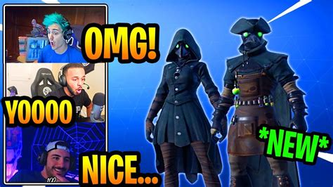 streamers react   plague doctor skins epic