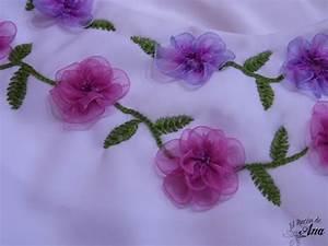 El Rincón de Ana: Vestido con flores bordadas con listón