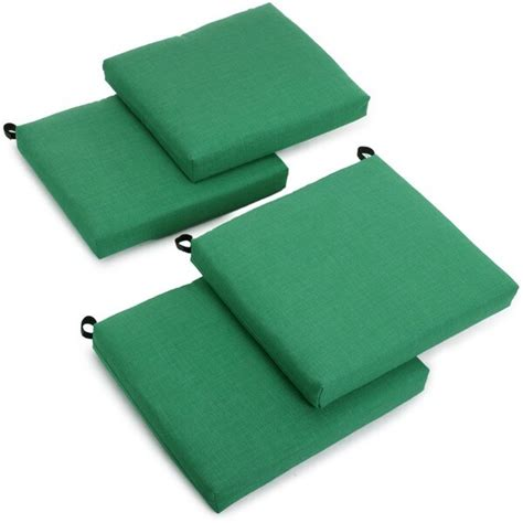 blazing needles outdoor spun poly chair cushions set