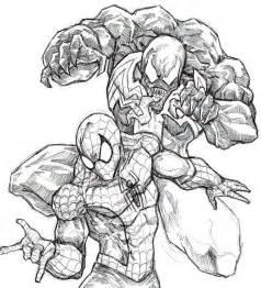 Venom Spiderman Kleurplaten.Spiderman Venom Free Colouring Pages