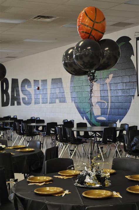 sports centerpieces for tables basha girls basketball end of season banquet table