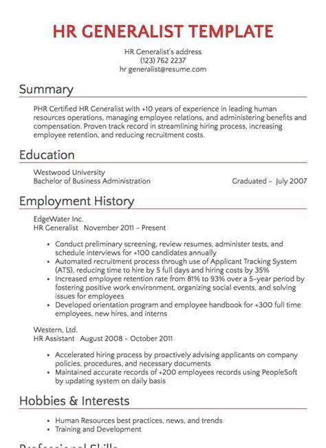 Hr Resume by Recruiter Resume Sle Resume