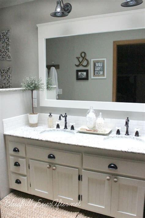 Bathroom Mirror Remodel by 10 Diy Ideas For How To Frame That Basic Bathroom Mirror