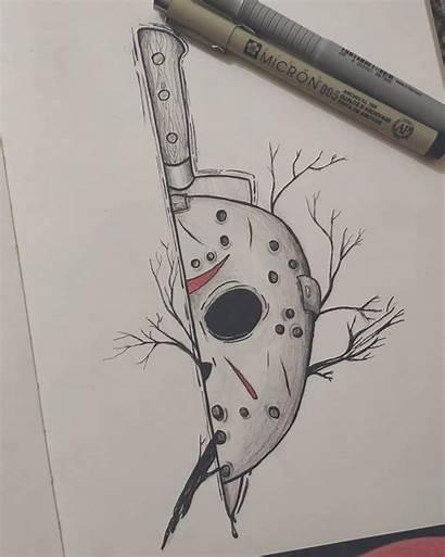 Desenhos Rajz Horror Drawings Scary Jason Drawing