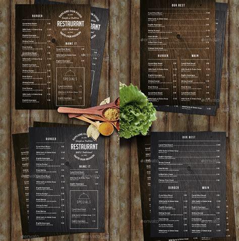 creative restaurant menu designs