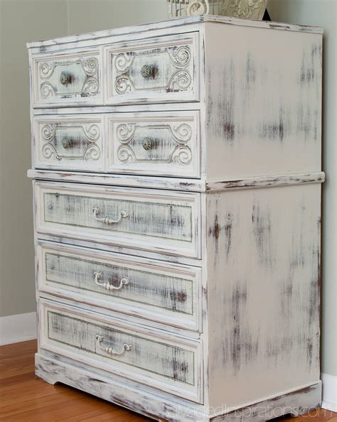 paint for shabby chic finish milk painted shabby chippy chic dresser salvaged inspirations