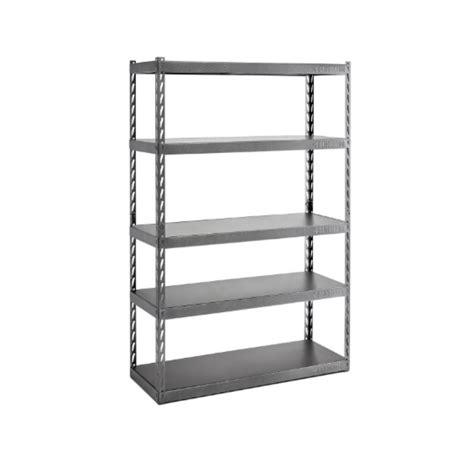 gladiator welded steel garage shelving unit gladiator 4 shelf 60 in w x 72 in h x 18 in d welded