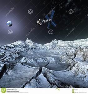 Satelite Sputnik Orbiting Earth In Space Stock Image ...