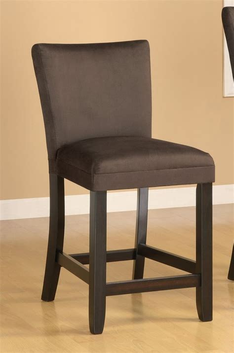 modern brown counter height chair bar stools