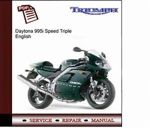 Triumph Daytona 955i Speed Triple Workshop Service Manual