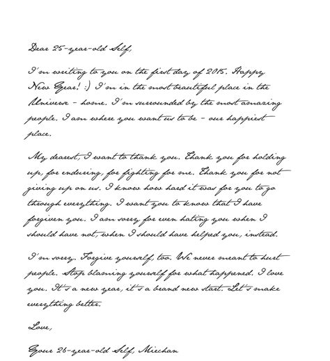 forgive  happy  year letter    year