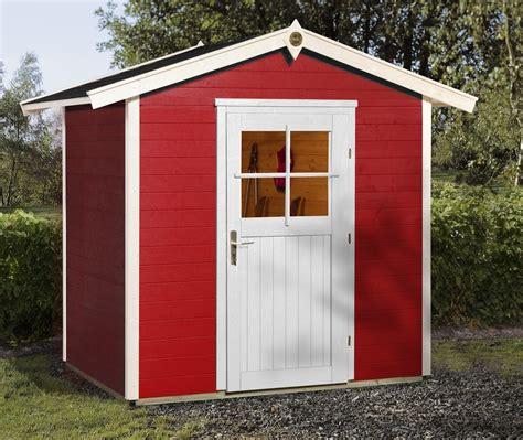 Gartenhaus Holz Rot by Weka Ger 228 Tehaus 21 Mm Gartenhaus 223 1 Rot 260x174cm Bei