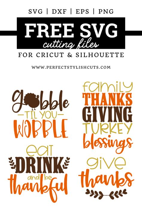 The free images are pixel perfect to fit your design and available in both png and vector. Free Thanksgiving SVG Bundle - PerfectStylishCuts | Free ...