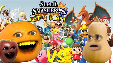 super smash bros annoying orange  squash youtube