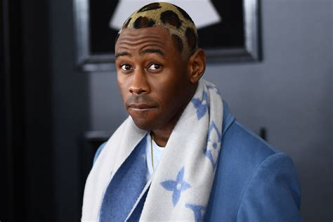 tyler  creator debuts leopard hair  grammys page