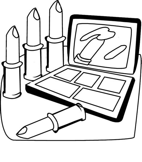 Coloring With Makeup by Cosmetic Coloring Pages To And Print For Free