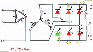 Three Phase Full Wave Bridge Rectifier Circuit Diagram
