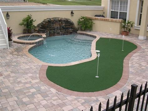 small backyard putting green putting green i love swimming pools pinterest