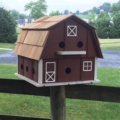 martin barn birdhouse  nest martin birdhouse cedar