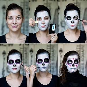 Maquillage Tête De Mort Mexicaine Facile 1001 Id Es Maquillage