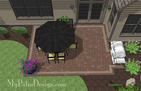 diy rectangular patio design downloadable patio plan