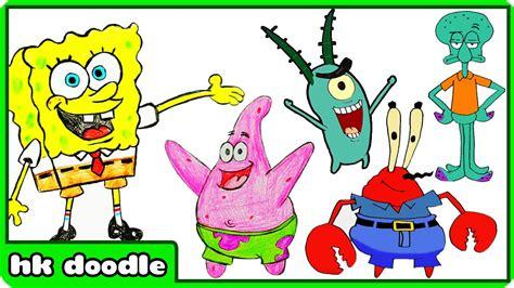 How To Draw Spongebob Squarepants Characters